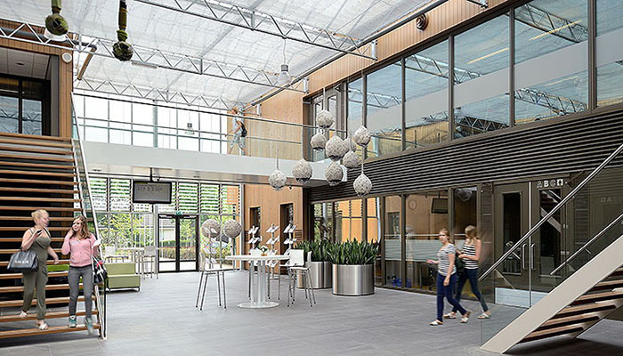 Nieuwbouw grootschalig onderwijscomplex ten behoeve van ...: winkelstechniek.nl/referenties/aoc-oost/33